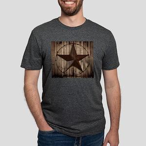 Barn wood Texas star Mens Tri-blend T-Shirt
