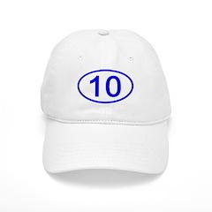 Number 10 Oval Baseball Cap