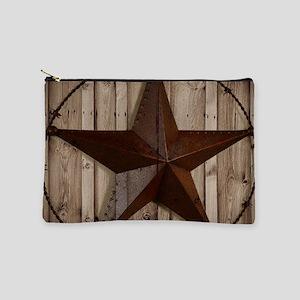 Barn wood Texas star Makeup Pouch