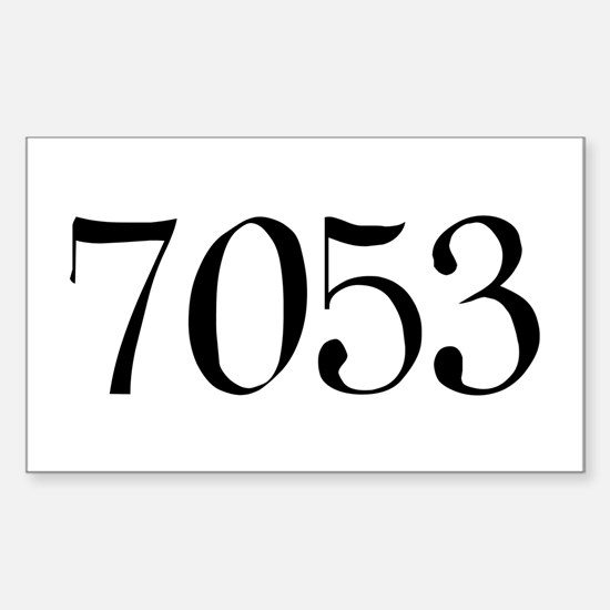 7053 Rectangle Decal