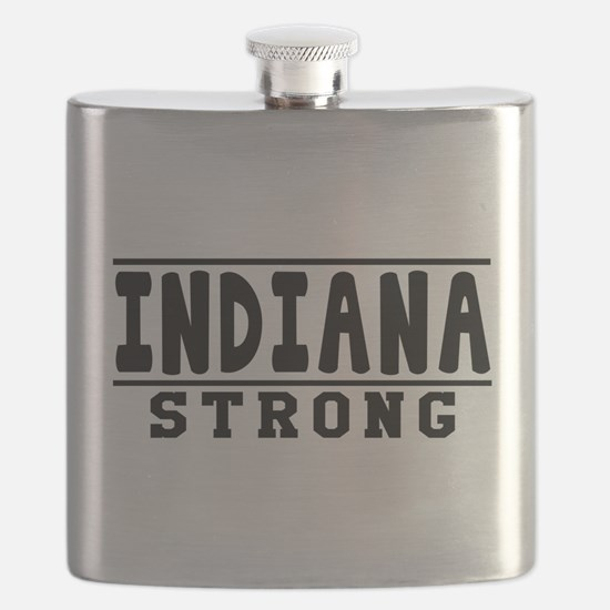 Indiana Strong Designs Flask