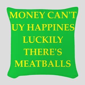 meatballs Woven Throw Pillow