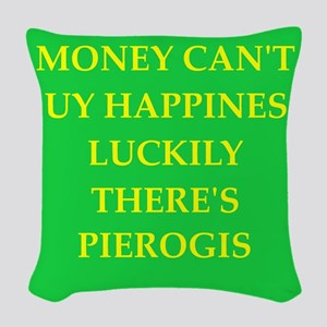 pierogi Woven Throw Pillow