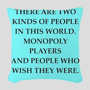 monopoly Woven Throw Pillow