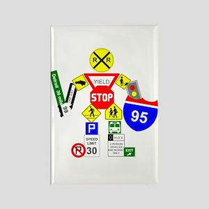 Street Sign Warrior Rectangle Magnet