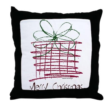 MERRY CHRISTMAS ART Throw Pillow