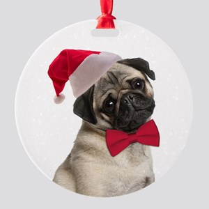 Santa Pug Ornament