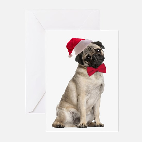 Santa Pug Christmas Cards (Pk of 10)
