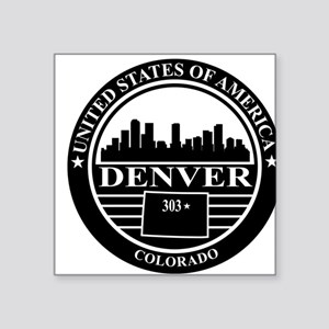 Denver logo black and white Sticker