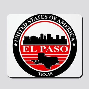 El paso logo black and red Mousepad