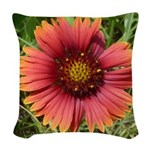 Firewheel on Fire Woven Throw Pillow