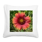 Firewheel on Fire Square Canvas Pillow