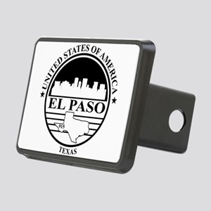 El Paso logo white and black Hitch Cover