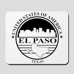 El Paso logo white and black Mousepad