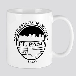El Paso logo white and black Mug