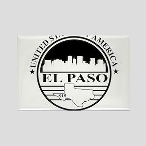 El Paso logo white and black Rectangle Magnet