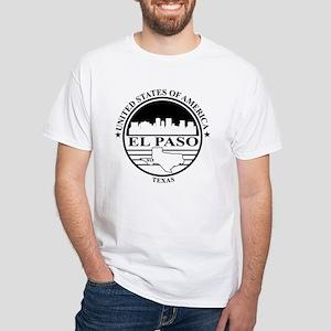 El Paso logo white and black T-Shirt