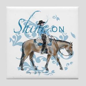 Western Pleasure Shine On Tile Coaster