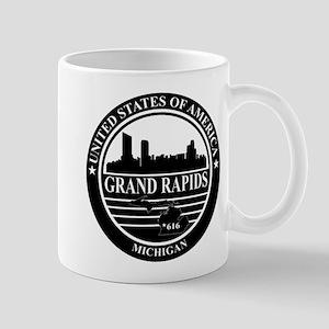 Grand rapids logo black and white Mug