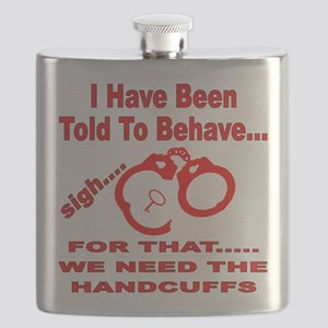 We Need The Handcuffs Flask