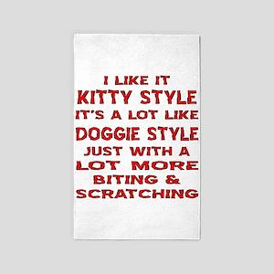 I Like It Kitty Style 3'x5' Area Rug