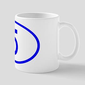 Number 5 Oval Mug