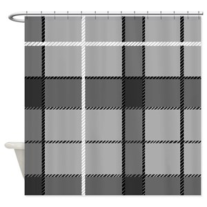 Black Tartan Shower Curtains