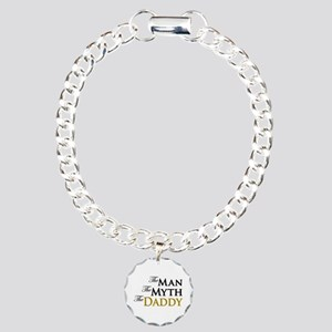The Man The Myth The Daddy Charm Bracelet, One Cha