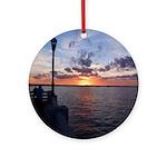 Titusville Pier Sunset Ornament (Round)
