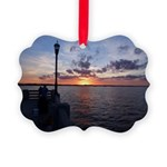 Titusville Pier Sunset Ornament