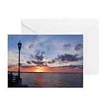 Titusville Pier Sunset Greeting Cards (Pk of 10)