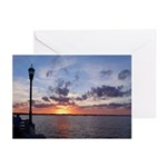 Titusville Pier Sunset Greeting Cards (Pk of 20)