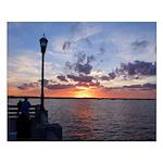 Titusville Pier Sunset Posters
