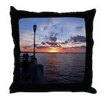 Titusville Pier Sunset Throw Pillow