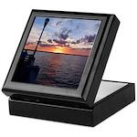 Titusville Pier Sunset Keepsake Box