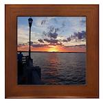 Titusville Pier Sunset Framed Tile