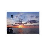 Titusville Pier Sunset 5'x7'Area Rug