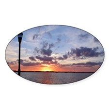 Titusville Pier Sunset Sticker