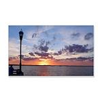 Titusville Pier Sunset Wall Decal