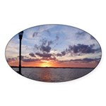 Titusville Pier Sunset Sticker