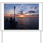 Titusville Pier Sunset Yard Sign