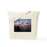 Titusville Pier Sunset Tote Bag