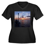 Titusville Pier Sunset Plus Size T-Shirt