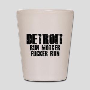 Detroit RUN Shot Glass