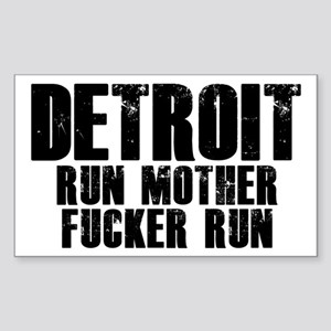 Detroit RUN Sticker
