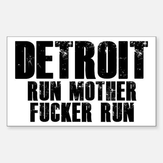 Detroit RUN Decal