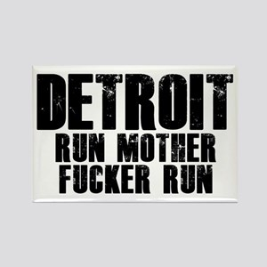 Detroit RUN Rectangle Magnet