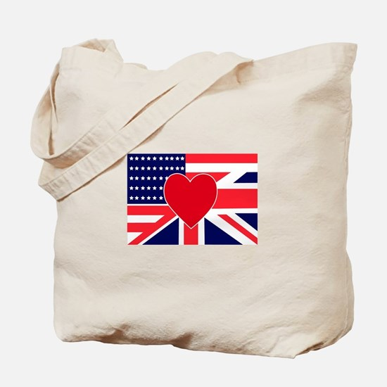 USA & UK Love Tote Bag