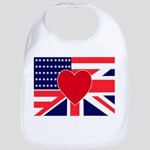 USA & UK Love Bib