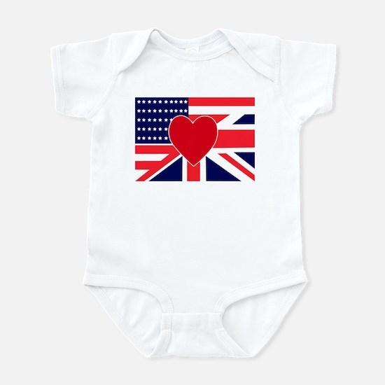 USA & UK Love Infant Bodysuit